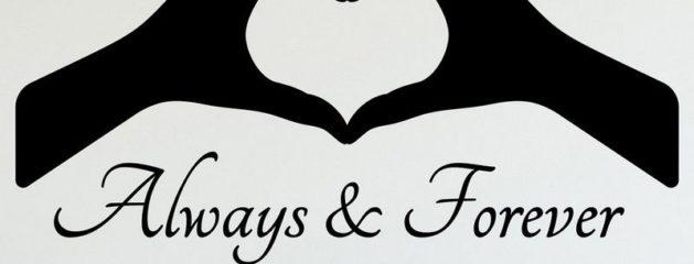 Sødt kærligheds citat til væggene